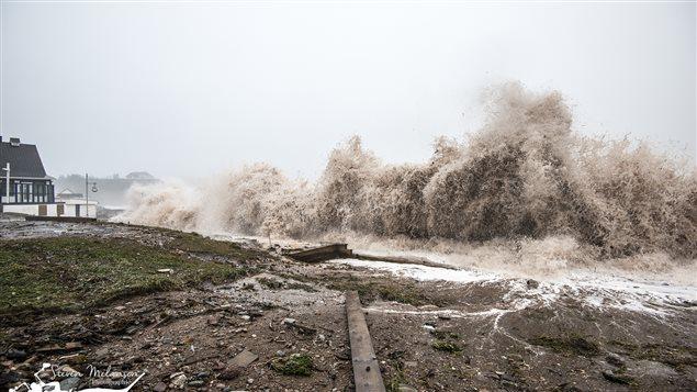Tempête du 29 octobre 2015, à Percé, en Gaspésie