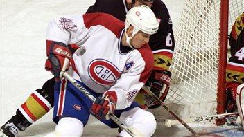 Brian Savage dans l'uniforme du Canadien, en 2000