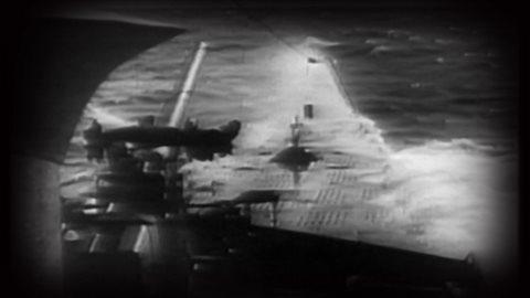 Prise de vue à bord d'un sous-marin U-Boat