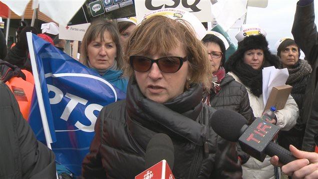 La président du Syndicat des infirmiers, infirmières et inhalothérapeutes de l'est du Québec, Micheline Barriault