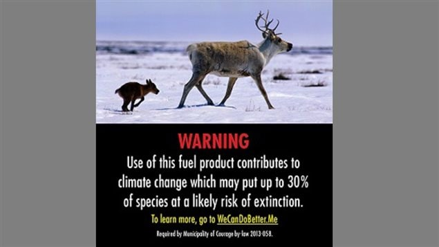 «L'utilisation de ce carburant contribue au changement climatique qui pourrait mettre 30 % des espèces en danger d'extinction.»