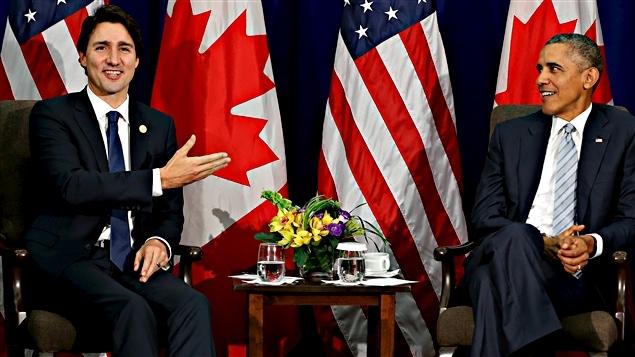 Justin Trudeau et Barack Obama à Manille