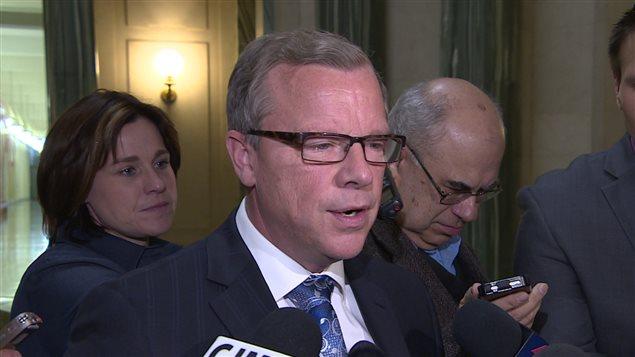 Le premier ministre de la Saskatchewan Brad Wall.