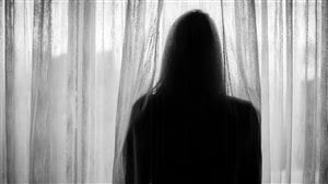 Une femme victime de violence conjugale