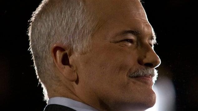 Jack Layton le soir de l'élection du 2 mai 2011