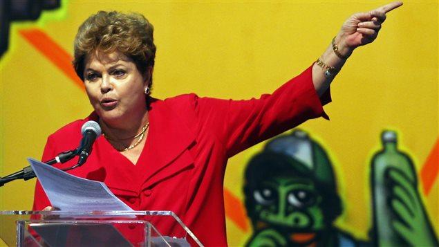 La présidente du Brésil Dilma Rousseff