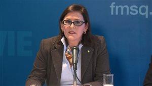 La présidente de la FMSQ, la Dre Diane Francoeur