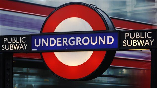 Le métro de Londres.
