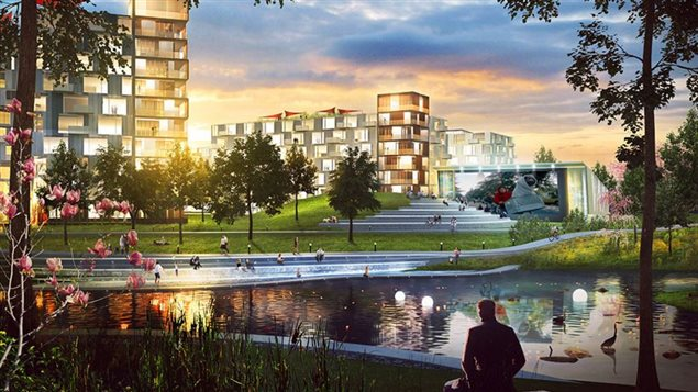 Exemple d'un quartier « TOD »