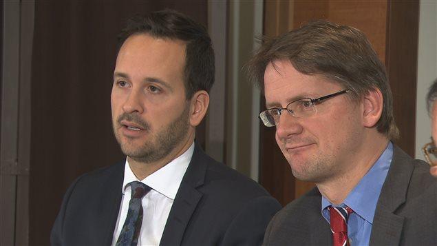 Les députés Alexandre Cloutier et Sylvain Gaudreault