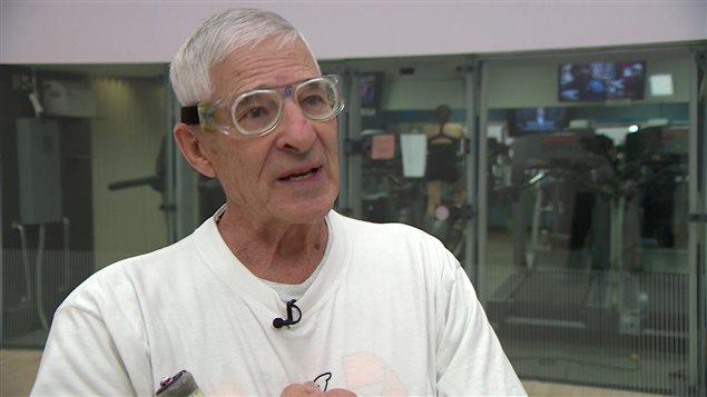 Fernand Grégoire, ancien entraîneur et éducateur physique à l'Université de Saint-Boniface