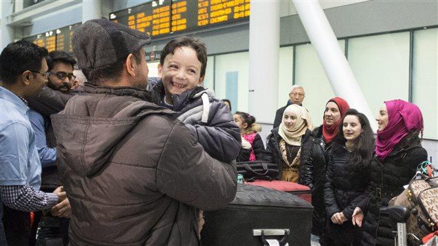 Ahmad Mazan Khabbaz, 6 ans, est un des jeunes réfugiés syriens accueillis à Toronto, jeudi.