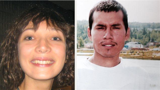 Marilyn Bergeron, à gauche, disparue en février 2008, et Pinaskin Ottawa, disparu le 11 octobre 2010.