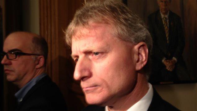 Le ministre Roger Melanson