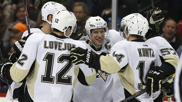 Sidney Crosby (centre)