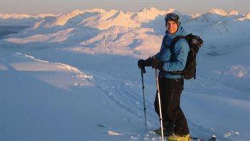 Le skieur David Morissette dans la région de White Pass, au sud de Whitehorse au Yukon.