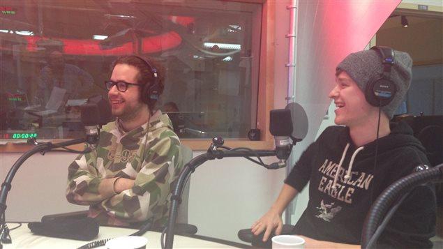 Fred Dubé et Marc-Antoine Lévesque en entrevue à Info-Réveil