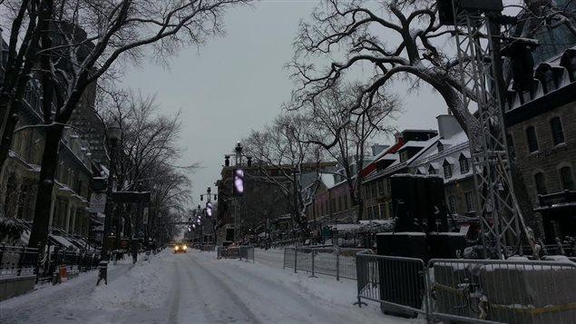 La Grande Allée, à Québec, le matin du 31 décembre