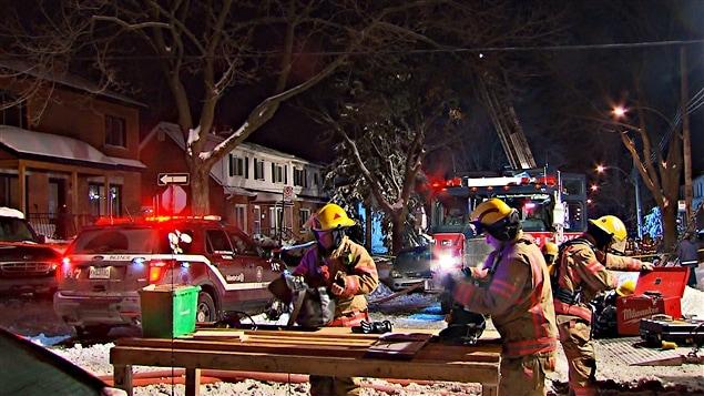 L'incendie s'était déclaré dans une résidence de la rue de Mobile peu avant 21 h.
