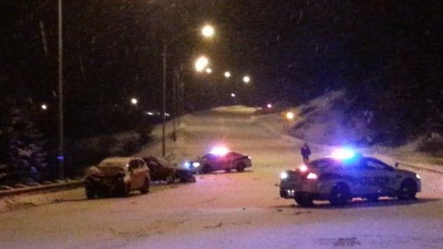 La collision a eu lieu sur le boulevard de l'Université dans l'arrondissement Chicoutimi.