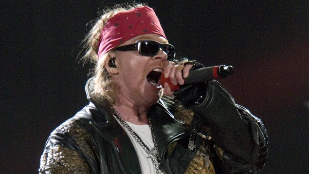 Axl Rose chanteur de Guns N'Roses en 2010