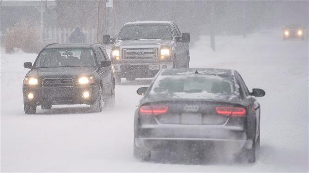 Montréal le 29 décembre, pendant la première tempête de l'année