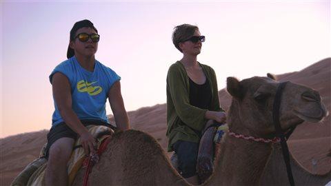 Saimaniq Temela à dos de chameau
