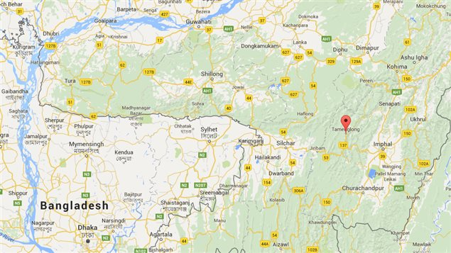 La région de Tamenglong, en Inde