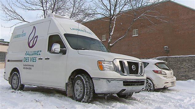 Le nouveau camion réfrigéré de la Maison Lauberivière.