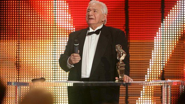 L'acteur français Michel Galabru lors de la remise des Prix Molière en 2008