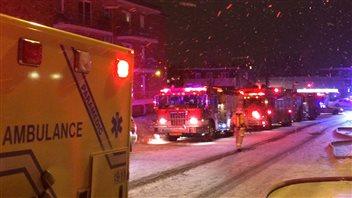 Les pompiers ont dû porter secours à des locataires.