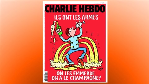 La une de «Charlie Hebdo» du 18 novembre 2015, cinq jours après les attentats terroristes qui ont fait 130 morts à Paris