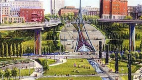 Le projet de Place de France du maire Jean-Paul L'Allier en vue du 400e anniversaire de Québec