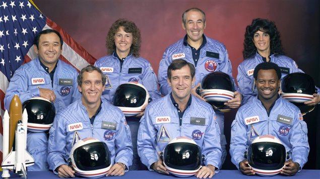 L'équipage de la dixième mission de la navette Challenger