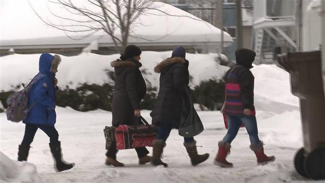 Les premiers réfugiers syriens qui arrivent à Drummondville.