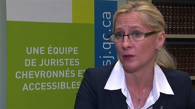 Me Isabelle Allard, directrice du Bureau d'aide juridique Maisonneuve-Mercier