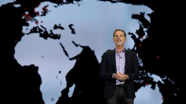 Reed Hastings, le PDG de Netflix, au CES 2016 de Las Vegas