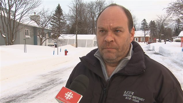 Guy Chicoine, membre de la famille des sinistrés