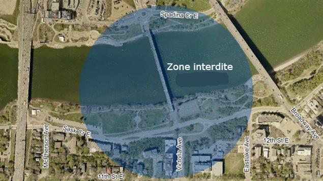 Un périmètre de 250 mètres sera installé autour du pont afin d'assurer la sécurité des curieux qui souhaite assister à la démolition.