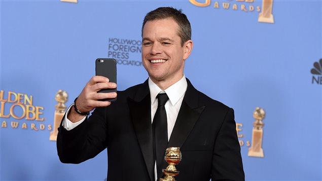 Matt Damon lors des 73es Golden Globes