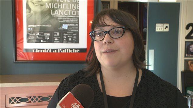 La coordonnatrice du Festival « Vues dans la tête de... », Marie-Amélie Dubé.