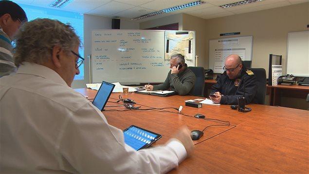 Le centre de coordination de la Ville de Rimouski, utilisé pour répondre à des situations d'urgence.