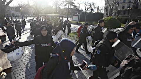 La police a bouclé le secteur