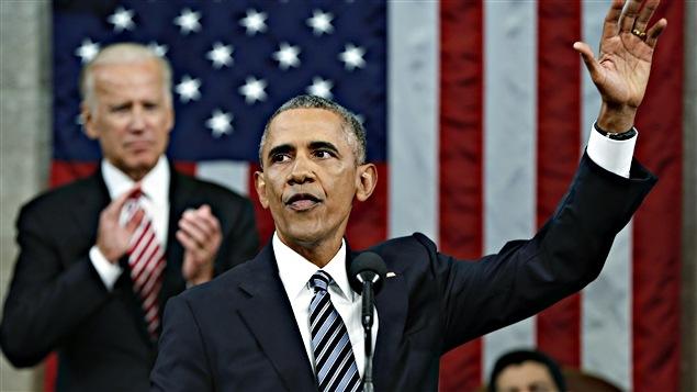 Barack Obama à la fin de son discours