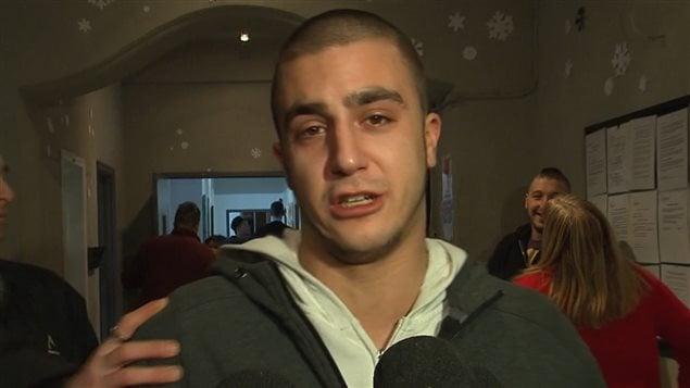 Cédric Giroux était très émotif après avoir appris la nouvelle.