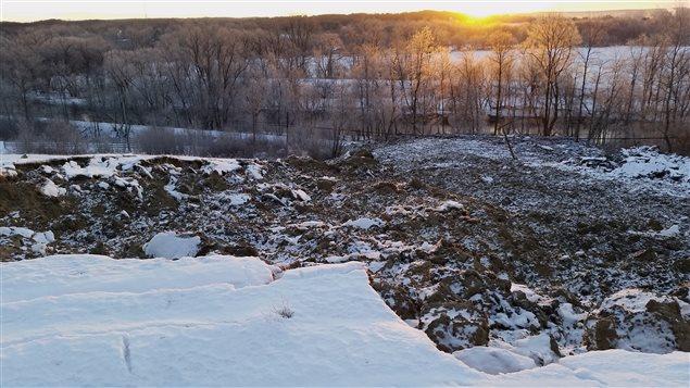 Glissement de terrain à Bury