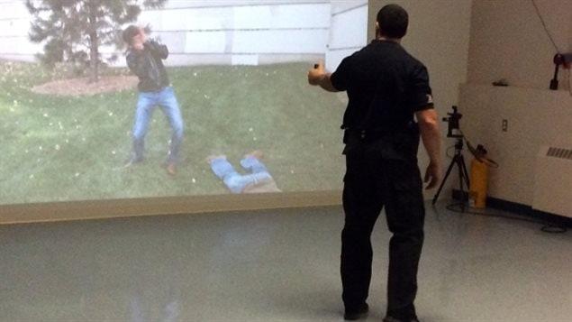 Un simulateur 3D à l'Académie de police de l'Atlantique