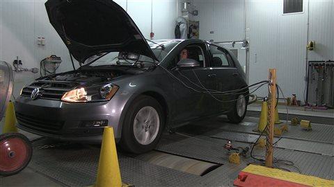 Un test mené sur une Volkswagen Golf.