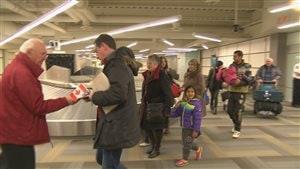 Arrivée de réfugiés syriens à l'aéroport de Moncton