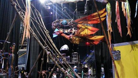 Installation du spectacle Toruk à Québec